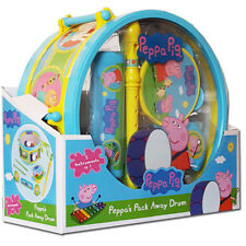 New Peppa Pig Pack Away Drum Musical Set
