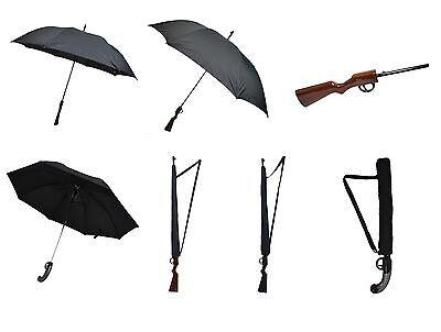 Poizen Industries Gun Umbrella Black Brown Compact Pistol Sale Goth Emo Punk