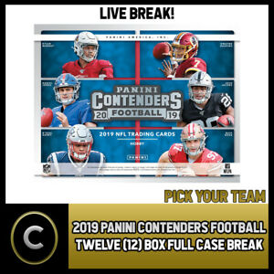2019-PANINI-CONTENDERS-NFL-12-BOX-FULL-CASE-BREAK-F408-PICK-YOUR-TEAM