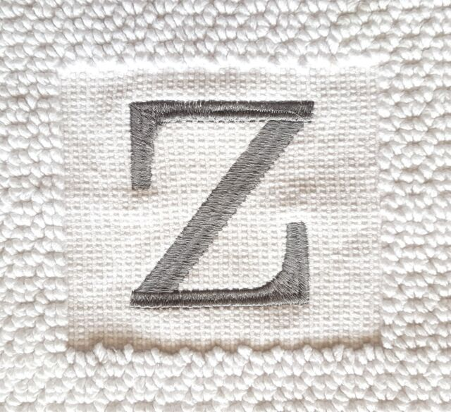 NWT NEW Threshold Monogram Bath Mat White with Grey A E or Snowflake 18x31