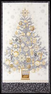 Christmas-Fabric-Holiday-Tree-Silver-Winters-Grandeur-RK-15186-Winter-Panel