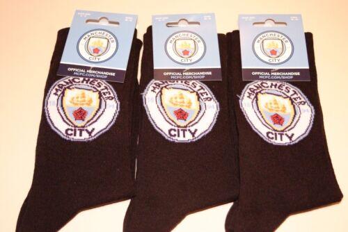 Da Uomo Manchester City Football Club Badge della Squadra Man City 6-11 MCFC CALZE Vestito Nuovo