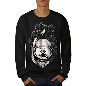 Black Funny Sweatshirt Men Diving New Skull Sport AqnvqPxwYR