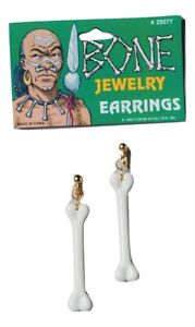 Stone Age Cavewoman Caveman Cave Bone Earrings Costume Jewelry Accessory NEW