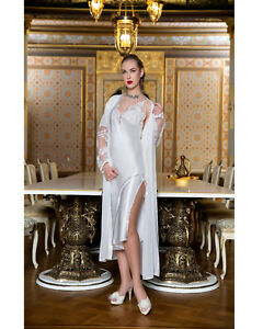Products Lace Satin White Nightdress And Women European Gown OqF7Y1Owf