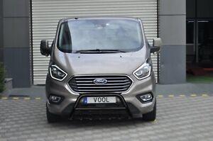 Ford-Custom-Facelift-De-Acero-Inoxidable-Negro-Eje-empujar-una-bar-Bull-Bar-2018-en-adelante