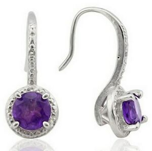 Genuine-Amethyst-Earrings-with-Diamonds-Sterling-Silver-1-4-carats