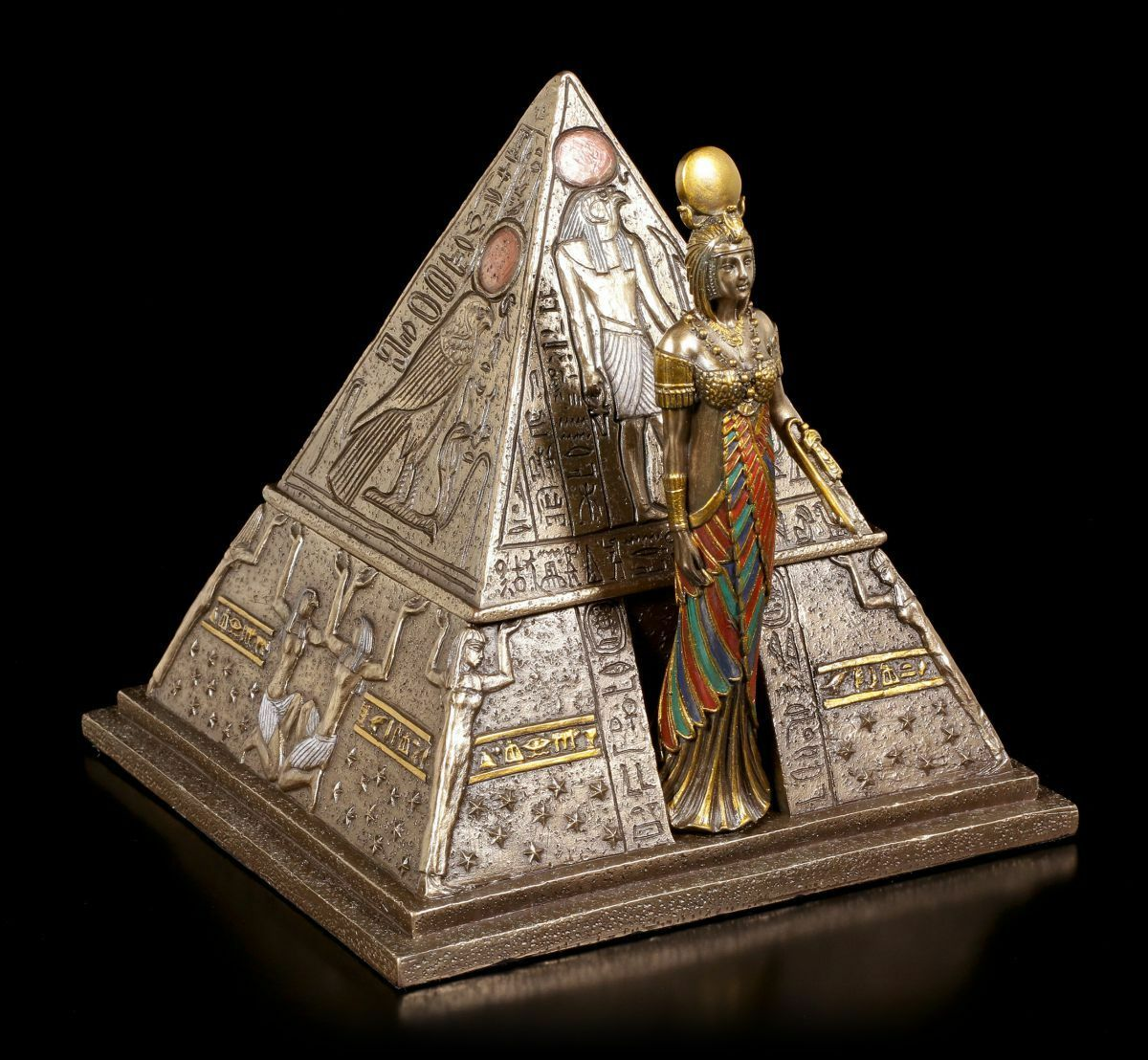 Egyptian Pyramids Box Decorative Figure Veronese Egypt Tin Box