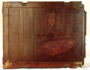 Image Is Loading Vintage Teak Wood Dark Slide Plate Holder For