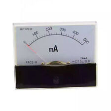 Dc 0 500ma Scale Range Current Panel Meter Amperemeter Gauge 44c2 Ammeter Analog