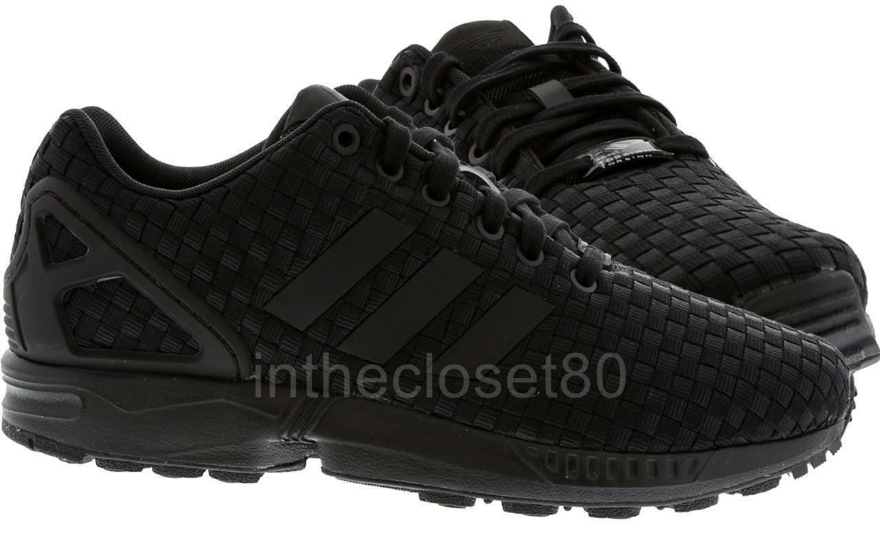 Adidas ZX Flux Woven Triple Black Torsion ZX8000 Mens Trainers B34005
