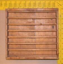 New Listingantique Letterpress Type Spacing Leading Rule Border Wood Tray Case Ca55 3