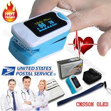 US Finger Fingertip Blood Oxygen Meter SPO2 OLED Pulse Heart Rate Monitor,Pouch1