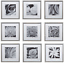 Gallery Perfect Gallery Wall Kit Square Photos with Hanging Template Picture Fra