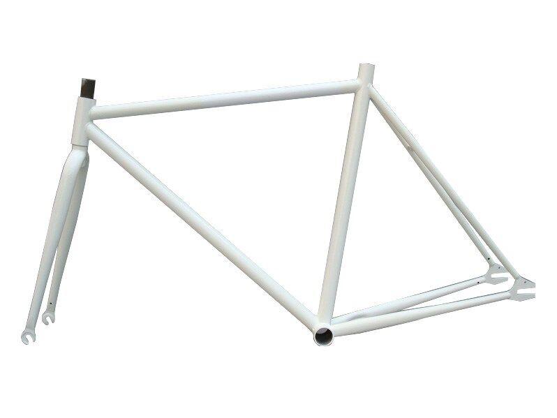 PIÑÓN fijo Bicicleta 19  Acero cuadro y horquilla pista de una sola velocidad Fixie Marco de bicicleta