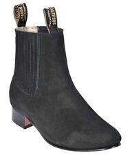 Men's Los Altos Charro Botin Short Ankle Nubuck Suede Boots Leather Outsole