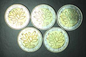 2004 FINLANDE COMMEMORATIVE EU 5 pieces circulated quality