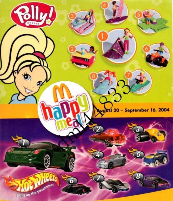 2004 McDonalds Polly Pocket MIP Complete Set - Lot of 8, Girls, 3+