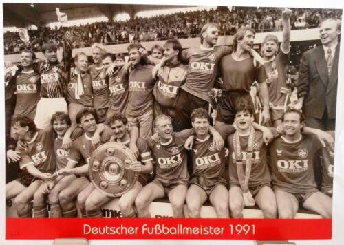 Fan Big Card Edition F85 Deutscher Fußball Meister 1991 1.FC Kaiserslautern