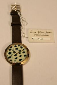Jacques Lemans Armbanduhr Edelstahl gelb Lederarmband Glassteine LP-113I