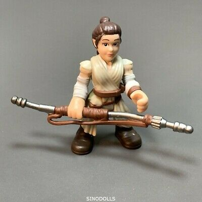2.5/'/' Playskool Star Wars Rey Jakku With Gun Galactic Heroes Figure Kids Toys