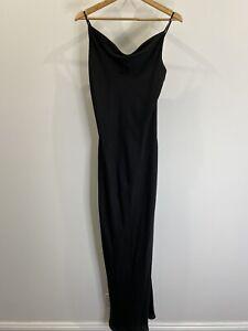 Shona-Joy-Luxe-Bias-Cowl-Black-Gown-Size-12-EUC-Formal-Gown-Cocktail