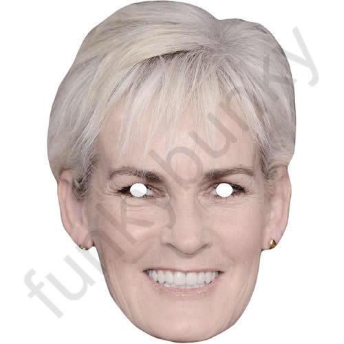 Judy Murray Tennis célébrité carte masque Tous les masques sont pré découpés