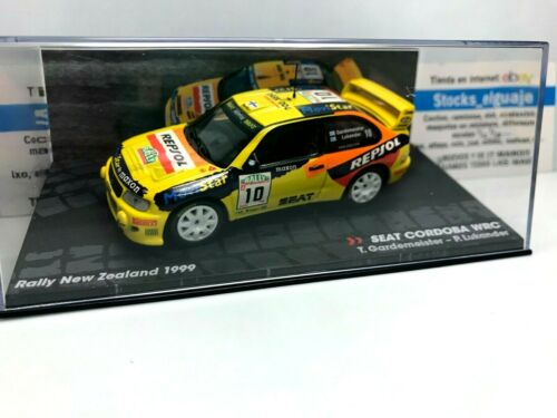 IXO ALTAYA 1//43 SEAT CORDOBA WRC TONI GARDEMEISTER NEW ZEALAND RALLY 1999 CAR