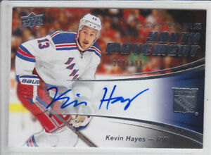 2015-16-UD-CONTOURS-KEVIN-HAYES-AUTO-308-399-YOUTH-MOVEMENT-Autograph-Rangers