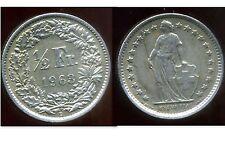 SUISSE 1/2 franc  1963  ARGENT