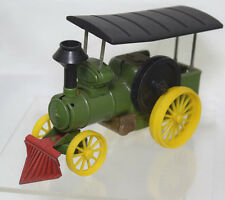 Vintage Steam Tractor Farm Equipment Tin Toy Japan Bandai Green Yellow