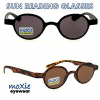 Sun Readers Sunglasses Round Vintage Lightweight 38mm 1.252.50 Moxie Flexible