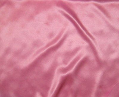 "Silk CHARMEUSE Fabric BUBBLEGUM PINK 7""x17"" remnant"