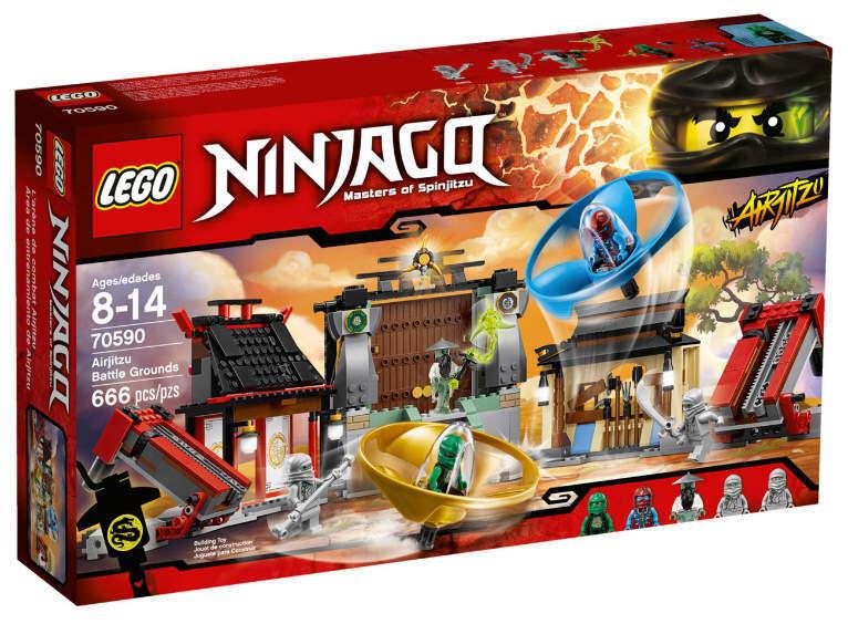 NUOVO LEGO ® Ninjago 70590-airjitzu torneo Arena NUOVO & OVP maestro Yang airjitzu
