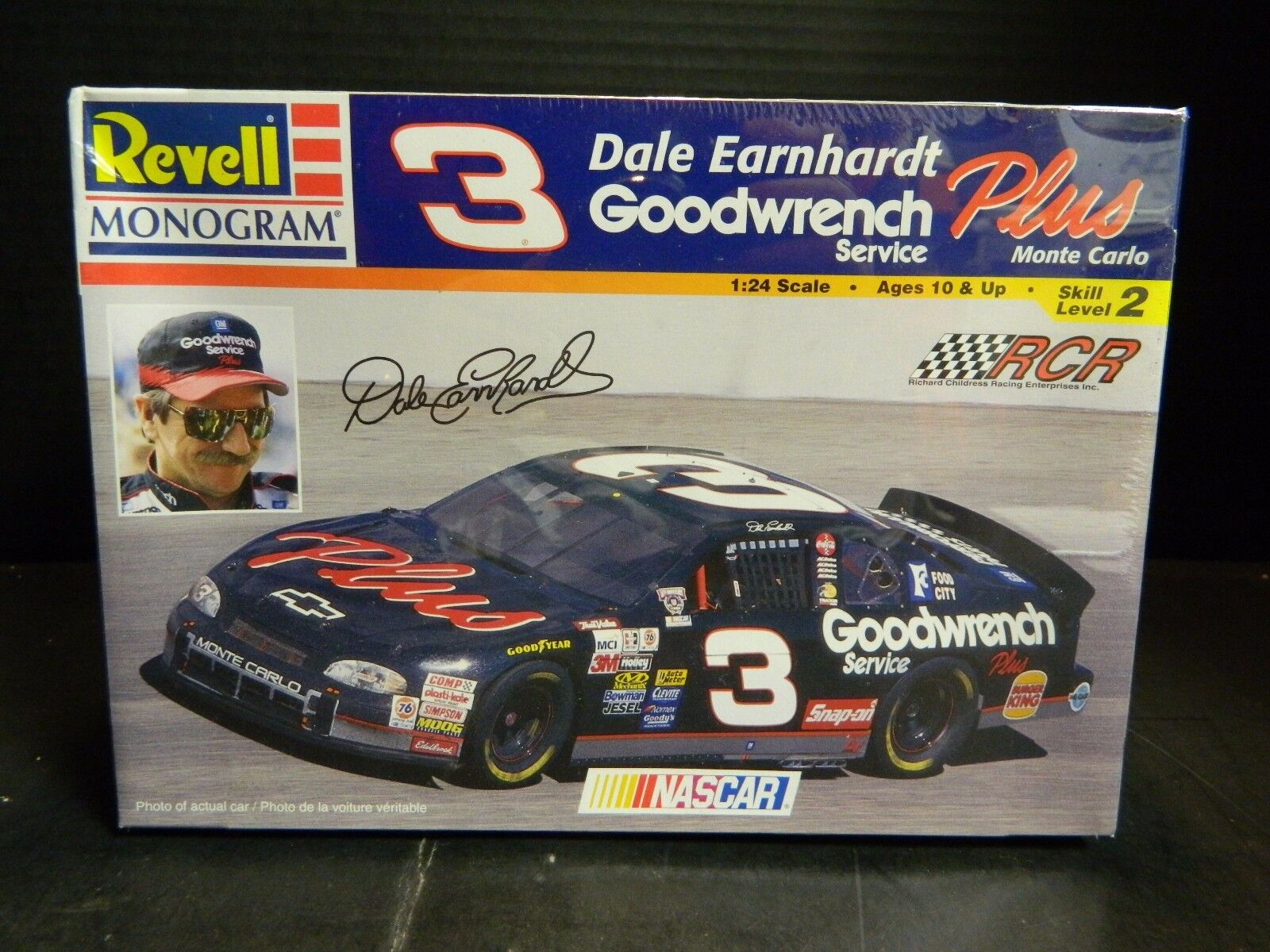 Racing-nascar 1995 Dale Earnhardt #3 Goodwrench Racing Team Phone Card Sealed Vintage Fs
