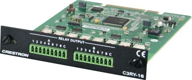 Crestron C3RY-16  16 port relay card for AV3 / PRO3 / CEN-CI3-1 / CEN-CI3-3