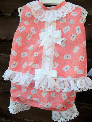 DREAM BABY GIRLS 0-3 YEARS BLUE SPOT ANGEL TOP AND KNICKERS SET