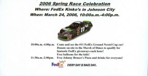 TN NASCAR handout Mar 2006 Denny Hamlin Fed-Ex Kinko/'s Chevy Johnson City