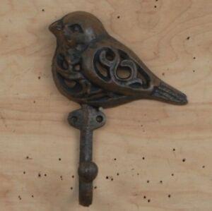 Image Is Loading Cast Iron Bird Wall Hook Bath Garden Decor