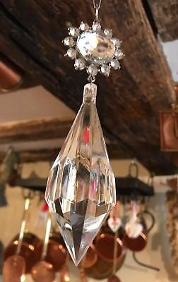 1 X Cristalli Acrilico Trasparente Goccia Pendente Da Appendere Natale Decorazione 17.4cm-mostra Il Titolo Originale Acquista Sempre Bene
