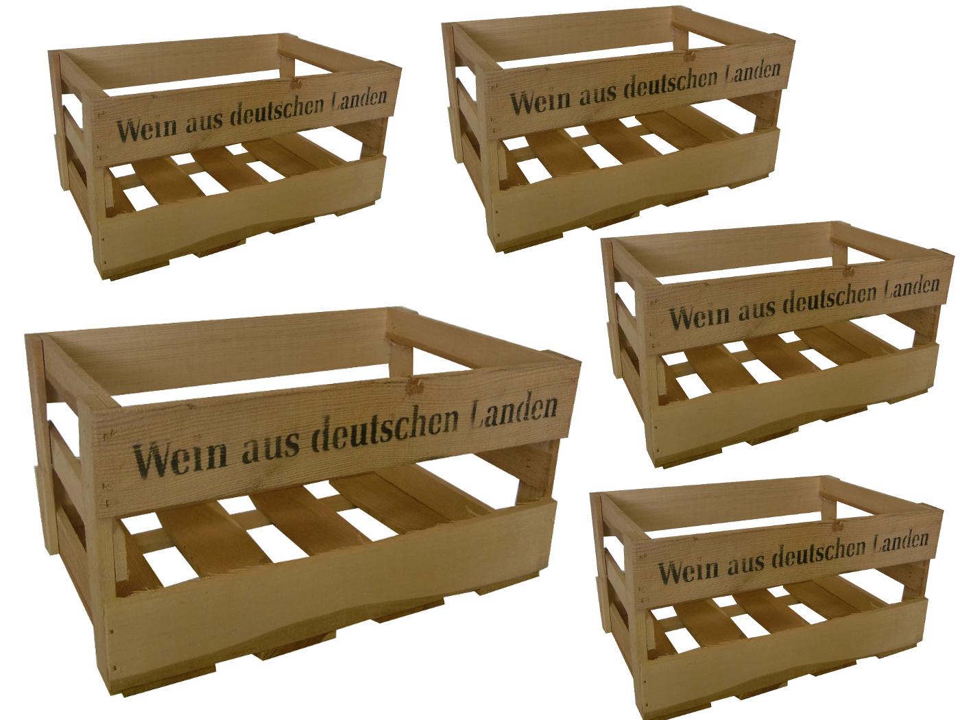5x Caisse à vin Caisse en bois dekokiste Nature vin de allemands atterrir Vin étagère