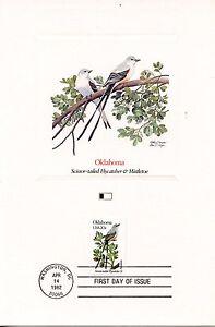 First Day Of Issue / Fdc / Oiseaux & Fleurs Des 50 Etats Des Usa / Oklahoma Le Plus Grand Confort