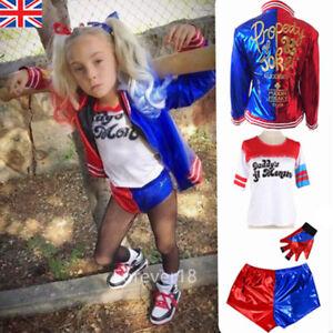 Halloween-Girls-Costume-Suicide-Squad-Harley-Quinn-Kids-Cosplay-Fancy-Dress-Set