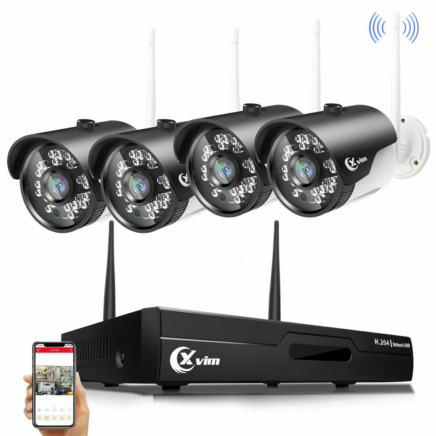 XVIM Wireless 1080P Security Camera System 4/8CH 1920TVL Wifi IP Camera CCTV NVR. Buy it now for 149.99