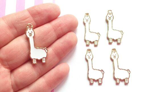 kawaii decoden craft supply jewellery 5//10pc alpaca enamel charms