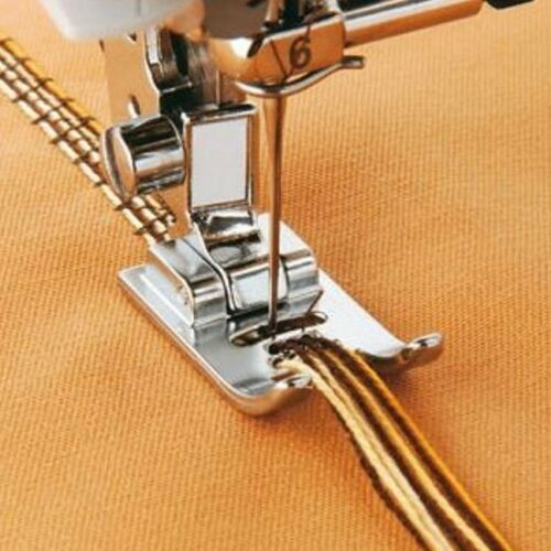 7 HOLE CORDING FOOT For Domestic Sewing Machines Snap on Stitch
