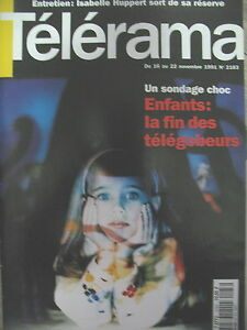 2183-LES-ENFANTS-ET-LA-TeLe-PHILIPPE-MINYANA-ISABELLE-HUPPERT-TELERAMA-1991
