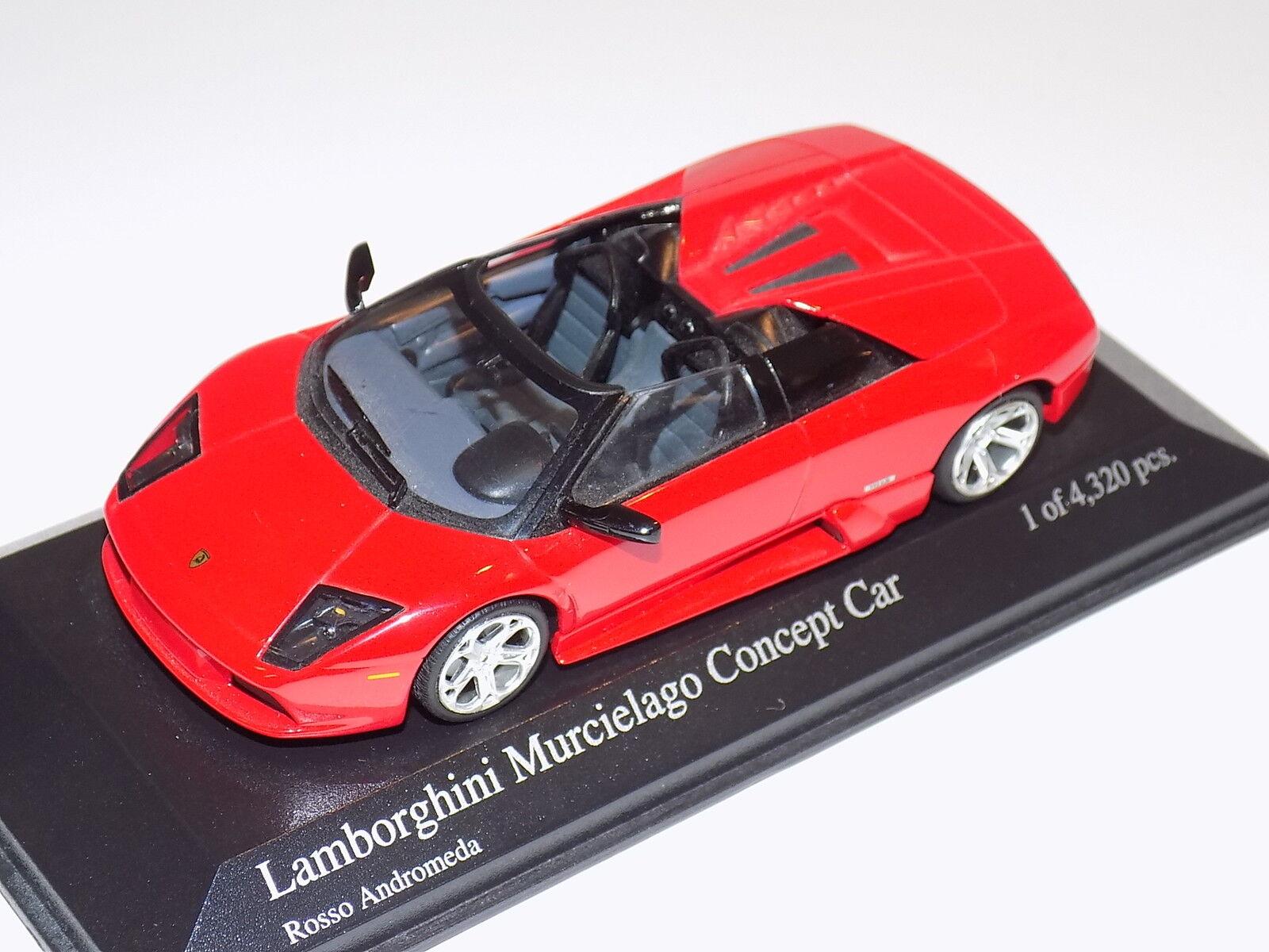 1 43 Minichamps Lamborghini Murcielago Concept Coche en rojo Andromeda