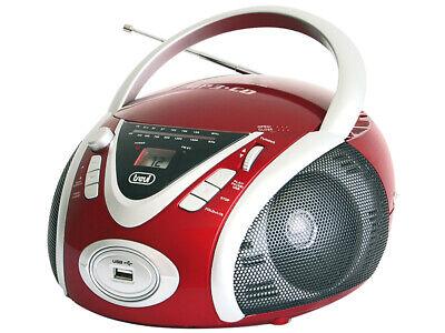 Trevi CMP 542 RD USB Portable Radio Avec CD MP3 USB Lecteur Boombox Rouge | eBay