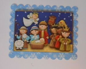PACK 2 CHRISTMAS NAVTITY TOPPER EMBELLISHMENTS  FOR CARDS AND CRAFTS